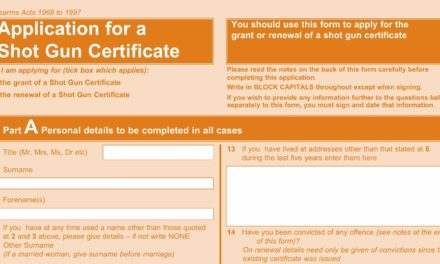 Applying for your Shotgun Certificate