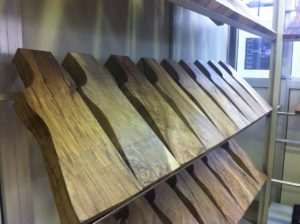 A selection of graded stock blanks in the Gun Service area.